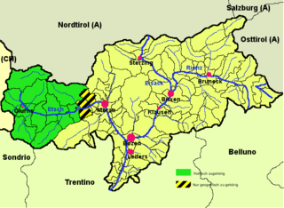 Vinschgau District in Italy