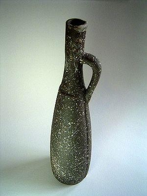 Image of an old Kazakhstan wine bottle.