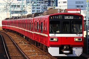 Keikyu 1500 series - 8-car set 1731 in March 2015