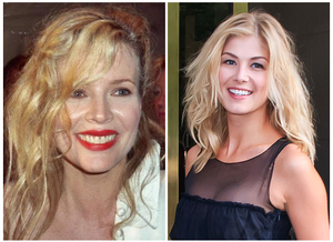 Bond girl - Kim Basinger, who played Domino Petachi in Never Say Never Again (1983) and Rosamund Pike, who played Miranda Frost in Die Another Day (2002).