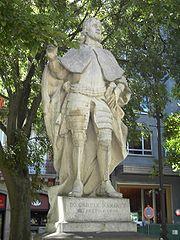 Estatua de García Ramírez en Pamplona