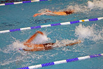 Swimmers at the 2007 Kingdom Games in Den Haag