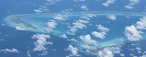 Abemama - Abemama atoll from the air