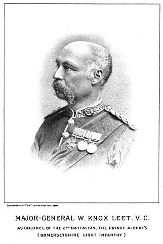 Battle of Hlobane - Major Knox Leet, with Victoria Cross.