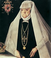Portrait of Queen Anna Jagiellon as a widow.