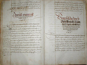 Bad Friedrichshall - town and court routine of Kochendorf, 16th century