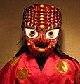 Korean mask of Chwibali ecstatic at the birth of his son.JPG