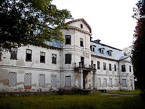 Krāslava New Palace - Image: Krāslavas pils 2000 07 21