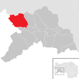 Location within Murau district