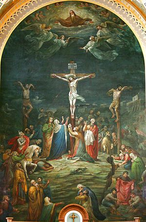 Saint Francis Xavier Cathedral (Green Bay, Wisconsin) - Crucifixion painted by Johann Schmitt