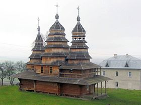 Wooden church in Krylos