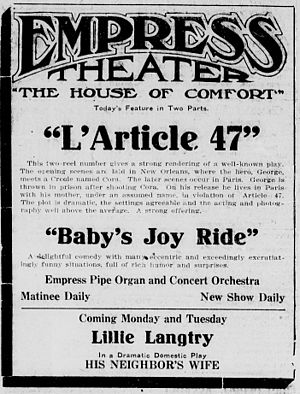 L'Article 47 - Contemporary newspaper advertisement