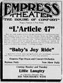 L'Article 47 newspaper advert Nov 1913.jpg