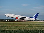 LN-RPL SAS Scandinavian Airlines Boeing 737-883 cn30469 takeoff from Schiphol (AMS - EHAM), The Netherlands pic2.JPG