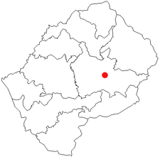 Location of Thaba-Tseka in Lesotho