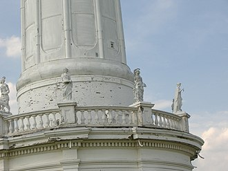 Louisville Water Tower - Image: LWT Statues