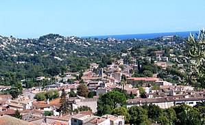 La Colle-sur-Loup - A view over the village of La Colle-sur-Loup