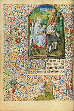 La Fuite d'Egypte - Heures de Varie - Getty Center Ms7 f28v.jpg