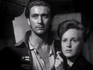 Cesare Danova - Cesare Danova and Irasema Dilian in The Captain's Daughter (film) (1947)
