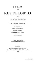 Georg Ebers: La hija del rey de Egipto