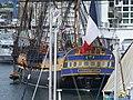 La poupe de l'Hermione, amarrée quai de la République à Port-Vendres.jpg