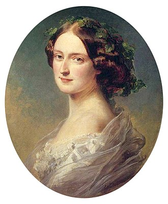 Sarah Villiers, Countess of Jersey - Her daughter, Lady Sarah Frederica Child-Villiers, by Franz Xaver Winterhalter