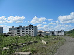 Abandoned apartment buildings in Kadykchan, 2011