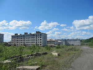 Kadykchan - Abandoned apartment buildings in Kadykchan, 2011