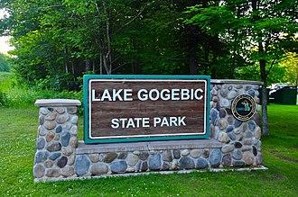 Lake Gogebic State Park - Image: Lake Gogebic State Park sign