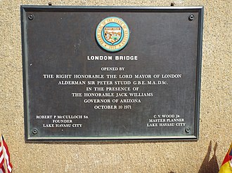 Lake Havasu City, Arizona - London Bridge Marker