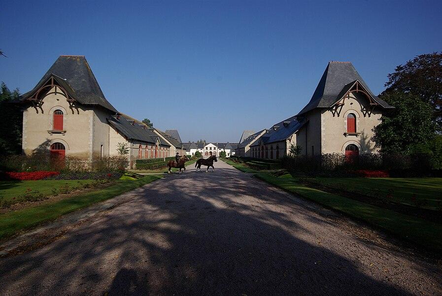 Lamballe in der Bretagne, Frankreich. Blick in das Gestüt in Lamballe (geotags in den EXIF-Daten).