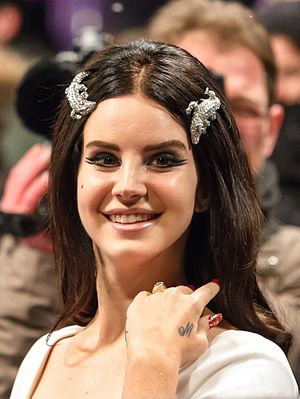 Lana Del Rey - Del Rey at the Echo music awards in 2013.