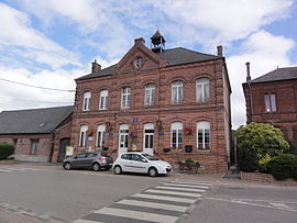 The town hall and school of Landouzy-la-Cour