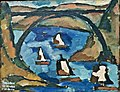 Landscape (Bridge and Boats)(1914) - Amadeo de Souza-Cardoso (1897-1918) (34174800674).jpg