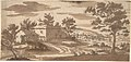 Landscape with Buildings and a Town in the Distance (recto); Study of a Building (verso) MET DP805542.jpg