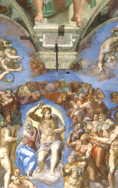 Last Judgement (Michelangelo) - Jonah and Jesus