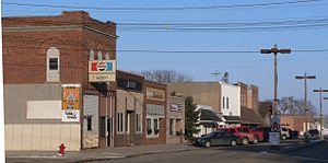 Laurel, Nebraska - Downtown Laurel: 2nd Street east of Elm Street