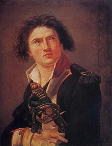 Portrait de Lazare Hoche attribué à Jacques-Louis David datant de 1793.