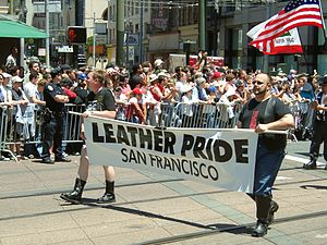 Start of the Leather contingent at the 2004 Sa...