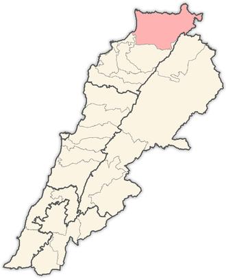 Akkar District - Image: Lebanon districts Akkar