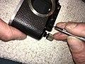 Leica II D aka Couplex rangefinder miror replacement (33628010275).jpg
