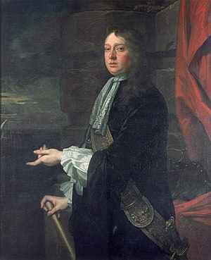 William Penn (Royal Navy officer) - Admiral Sir William Penn, 1621–1670 by Sir Peter Lely, painted 1665–1666, part of the Flagmen of Lowestoft series