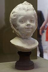 Fillette coiffée d'un fichu, Lemoyne (Louvre RF3658)