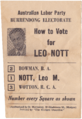 Leo nott ALP 1973 how to vote slip.png