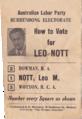 Leo nott ALP 1973 how to vote slip.png