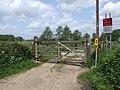 Level Crossing, Wadehall New Dam (Track) - geograph.org.uk - 440531.jpg