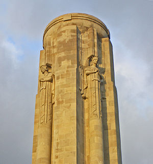 Robert Ingersoll Aitken - Sculptural details at the top of the 217 ft. column of the Liberty Memorial in Kansas City, Missouri, by Robert Aitken.