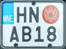 Number Plate Area Codes >> Vehicle registration plates of Montenegro - Wikipedia