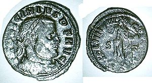 Sol Invictus - Identical reverse as the coin of Constantin I but with Emperor Licinius on head