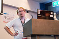 Lifes and deaths of Wikimedia projects in a minority language Wikimania 2014 session-2.jpg